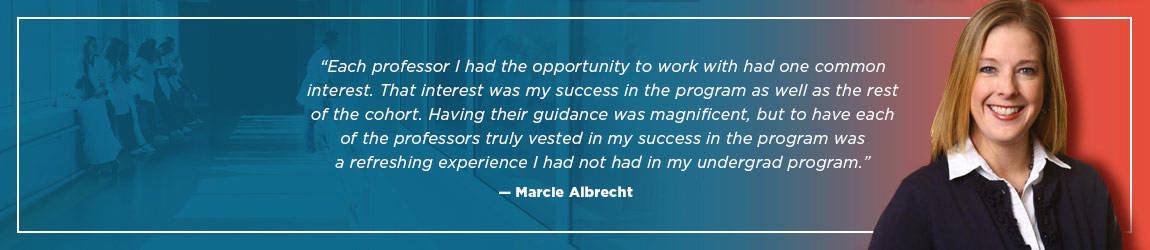 Marcie Albrecht, Fall 2012 Graduate